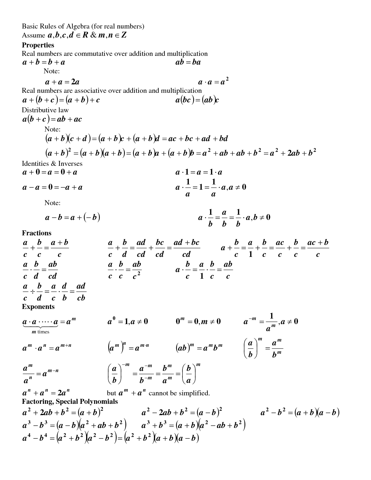 algebra rules - Google Search   -school-   Pinterest   Search and ...