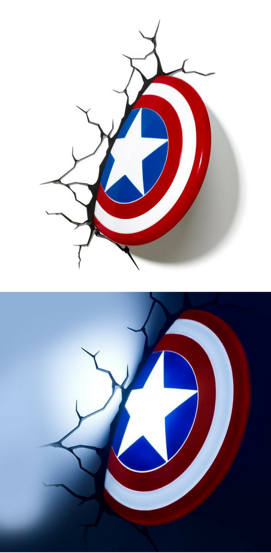 Deckenlampe clipart  Philips Wandleuchte Captain America Schild 3D LED Lampe mit ...