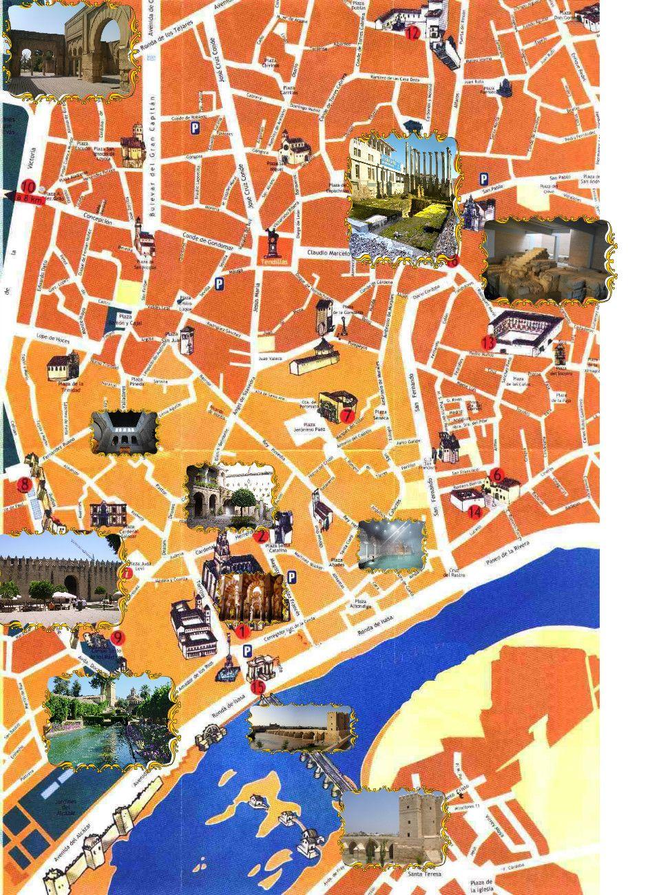 españa tours turisticos mapa turistico de c rdoba mapas turisticos pinterest