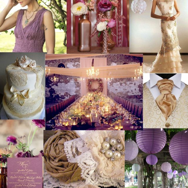 Plum Bronze Peach And Ivory Wedding Colors Wedding Gold