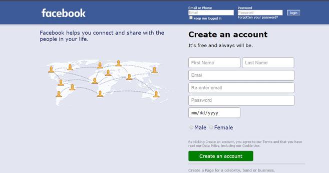 Login facebook com logo/fbfordevelopers