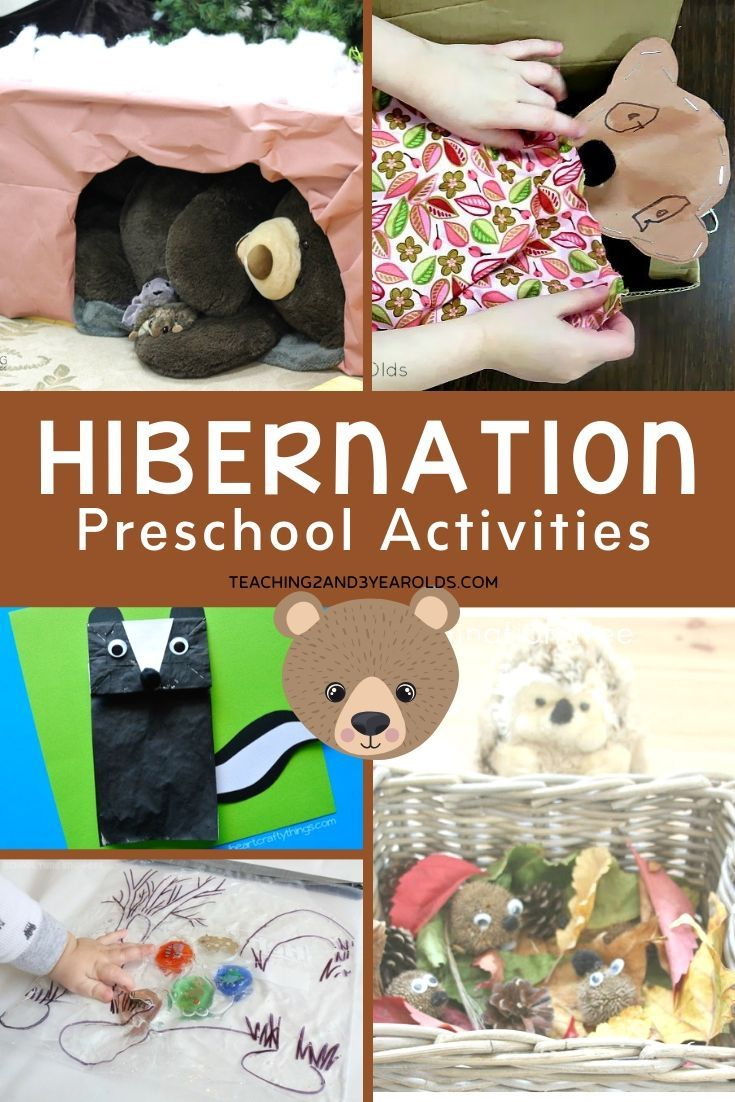 This collection of preschool hibernation activities is a fun addition to the winter theme. Packed w