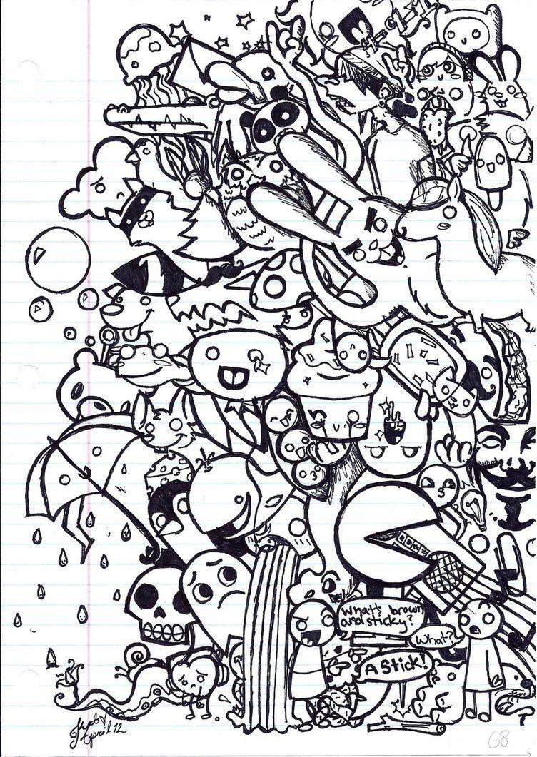 Random By Purplestarwolf On Deviantart Easy Doodle Art Doodle