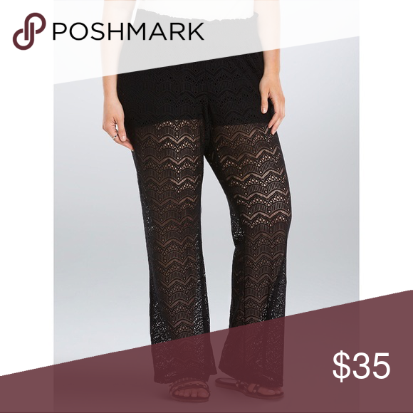 0253fc792ab Torrid Black Lace Flare Pants So comfy and breezy. I m 5 6 and these ...