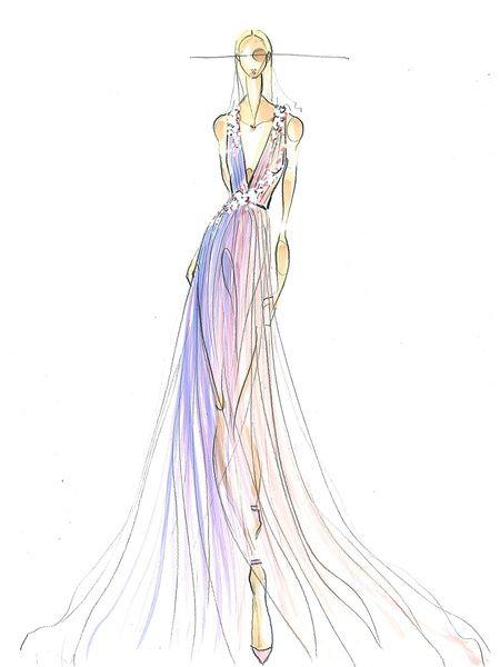 Fashion Week spring 2015 sketch Sept. 2014 Pamella Roland