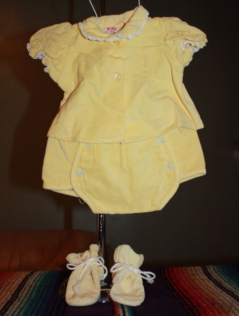 649aa46a708204  10 Evy set - Four piece infant set in yellow pin corduroy. Top 9 ...
