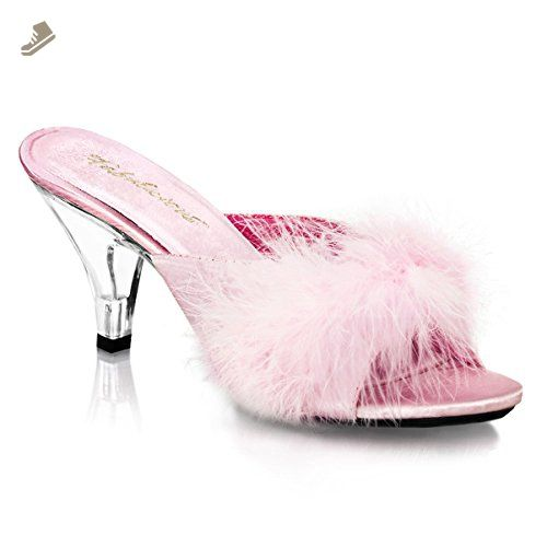db338d49ad0 Romantic Elegant 3 Inch Sexy Mid Heel Shoes Fur Shoes Black White Red Baby  Pink Size  7 Colors  BabyPink - Summitfashions pumps for women ( Amazon ...