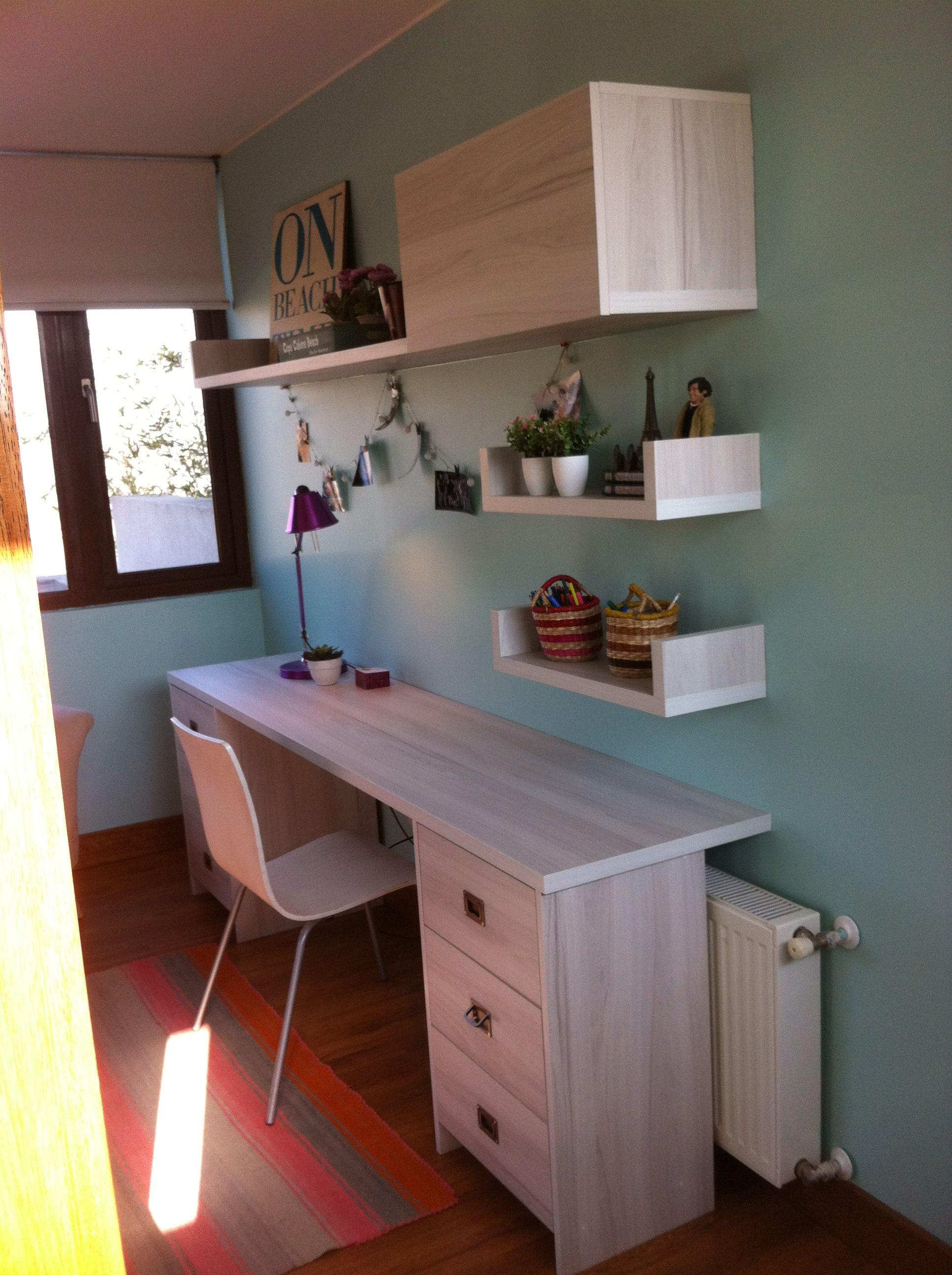 Escritorio moderno dormitorio casta o blanco mi hogar for Decoracion de escritorios