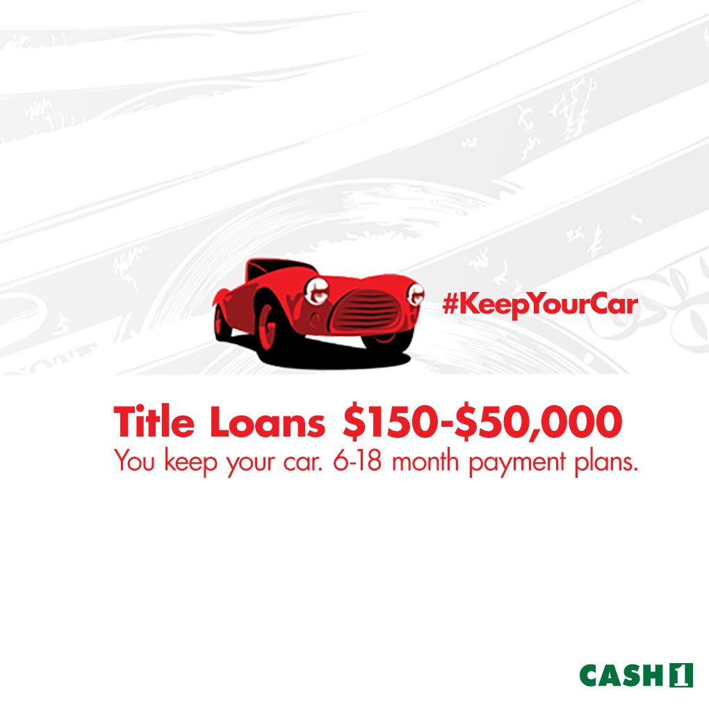 Cash 1 offers title loans unlock the equity youve earned