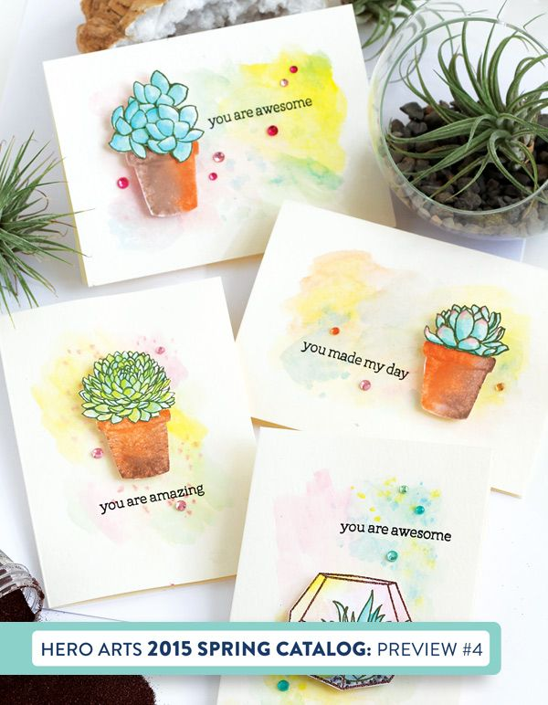 Hero Arts Stamp Your Own Succulents에 대한 이미지 검색결과