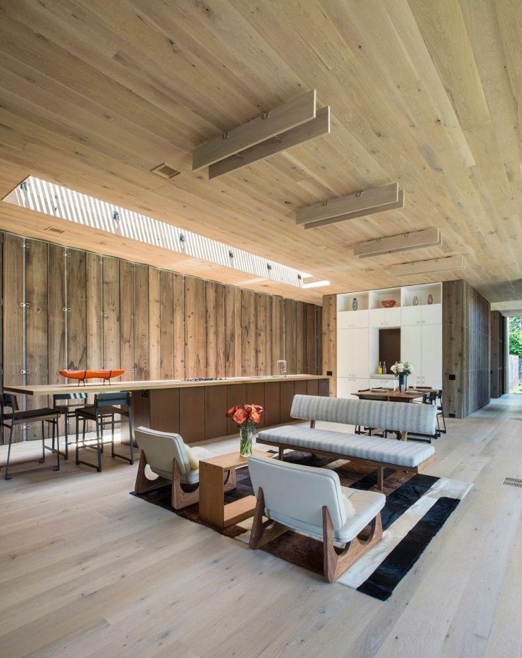 moderne offene Küche und Mid-Century Wohnzimmer Möbel Häuser