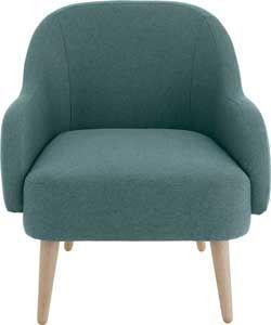 Habitat Momo Teal Fabric Armchair. | Fabric armchairs ...