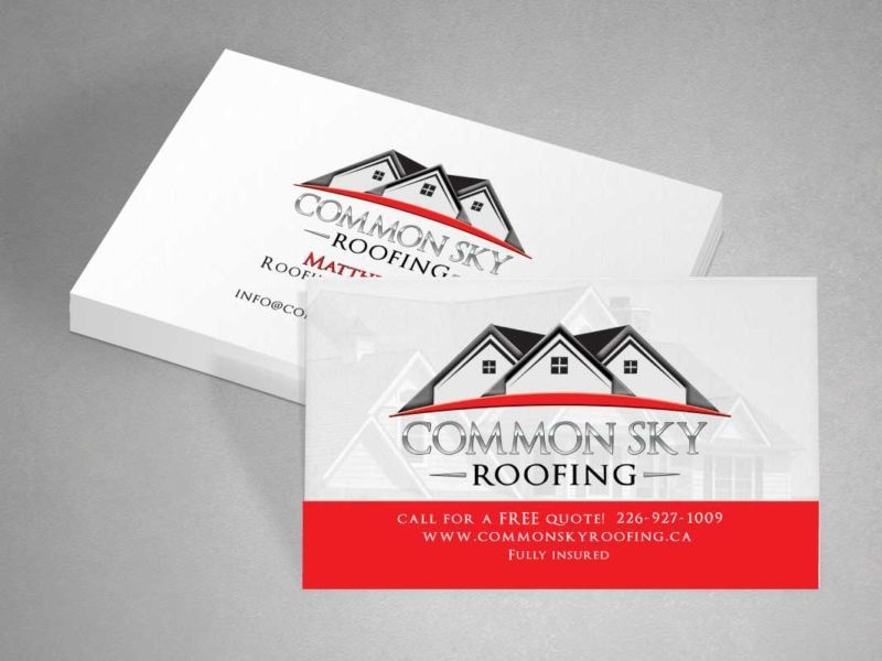 Roofing Business Cards 11 Examples To Inspire You 3 Free Templates Roofing Business Roofing Simple Business Cards
