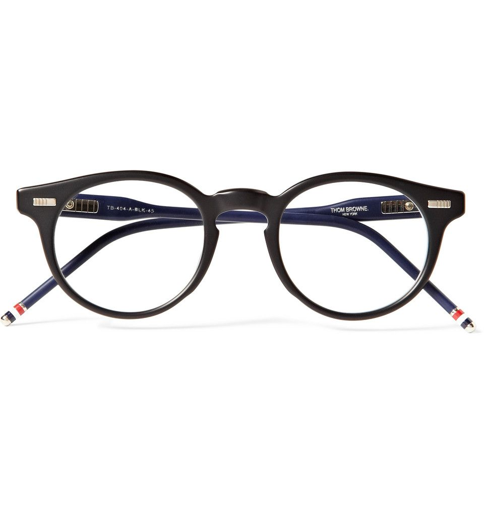Thom Browne - Round-Frame Acetate Optical Glasses | MR PORTER ...