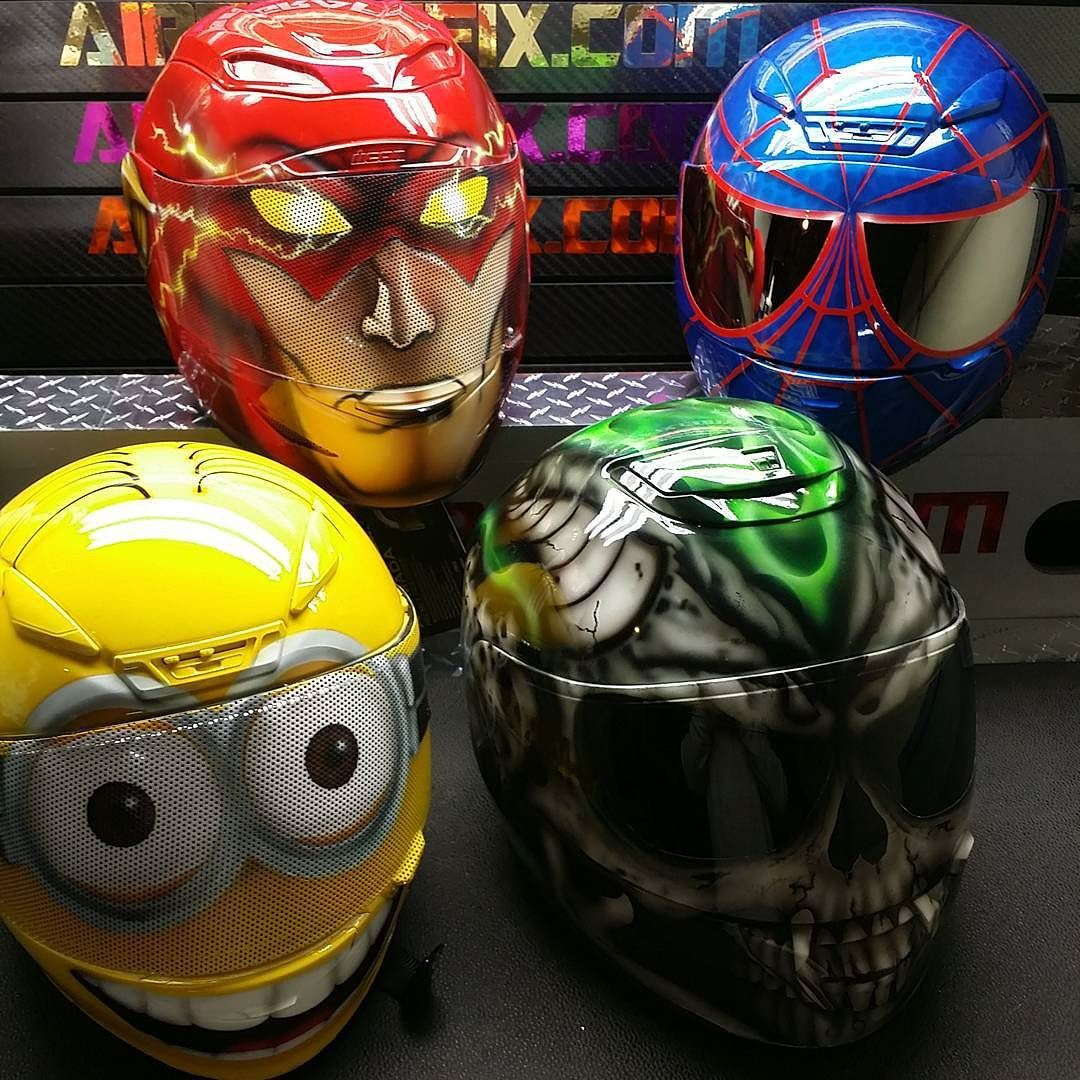 Custom Airbrushed Motorcycle Helmets By Airgraffix My Top 100