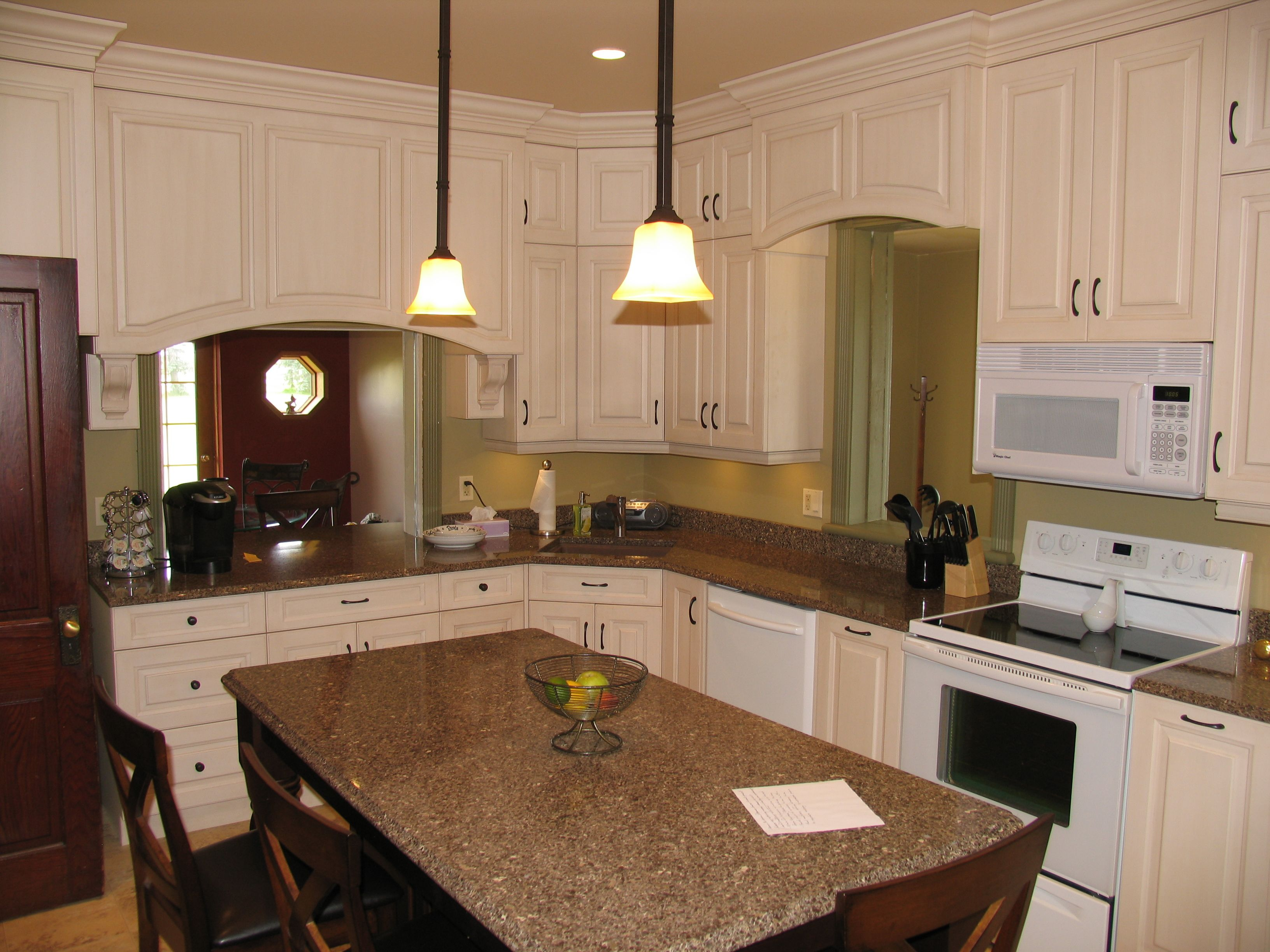 Kitchen cabinets maple irish cream island cabinets for Cambrian kitchen cabinets