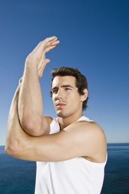 upper back  shoulder stretches with images  shoulder