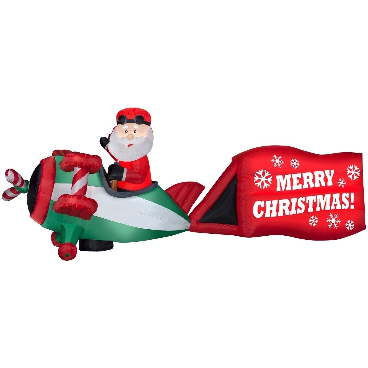 Inflatable airplane christmas decorations
