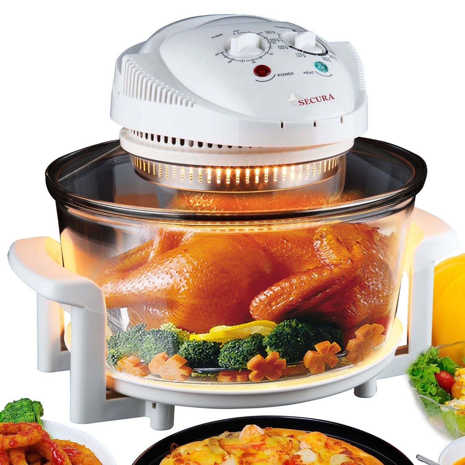Secura turbo oven uses infrared heating and convection fan