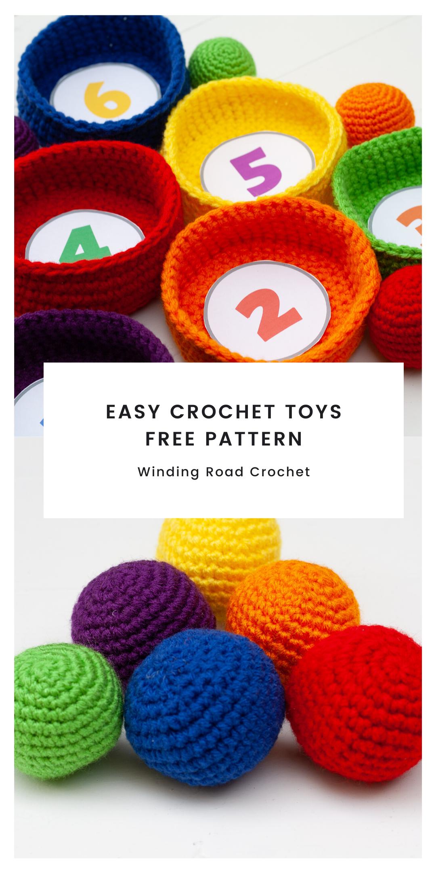 Photo of Easy Crochet Toys Pattern: Ball Toss Game – Winding Road Crochet