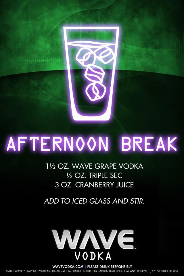 Here's the recipe for a well-deserved WAVE Afternoon Break.  #DrinkRecipes #cocktails #WAVE #WAVEWhippedCream