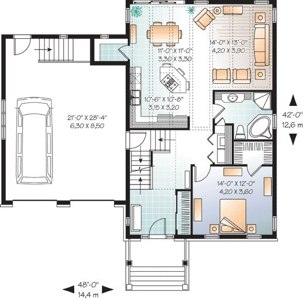 Plan 21835dr Flexible Home Plan With Options House Plans Craftsman House Plans Drummond House Plans