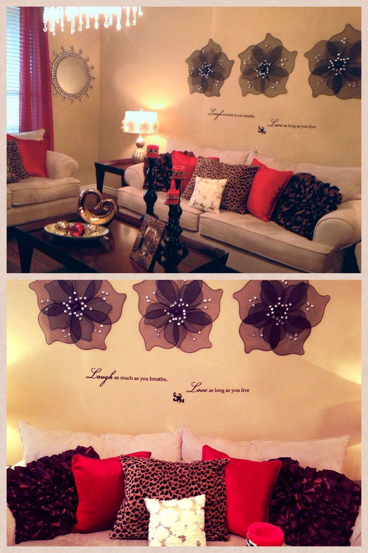 My Living Room Gold Red And Cheetah Accent