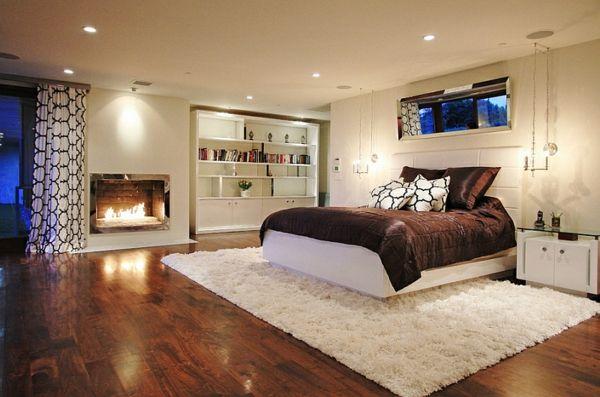 Schlafzimmer Teppich ~ Einrichten teppich schlafzimmer keller fell weich keller