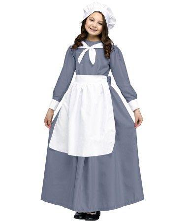 PILGRIM PIONEER BONNET PURITAN COLONIAL PRAIRIE VICTORIAN GIRL CHILD COSTUME HAT