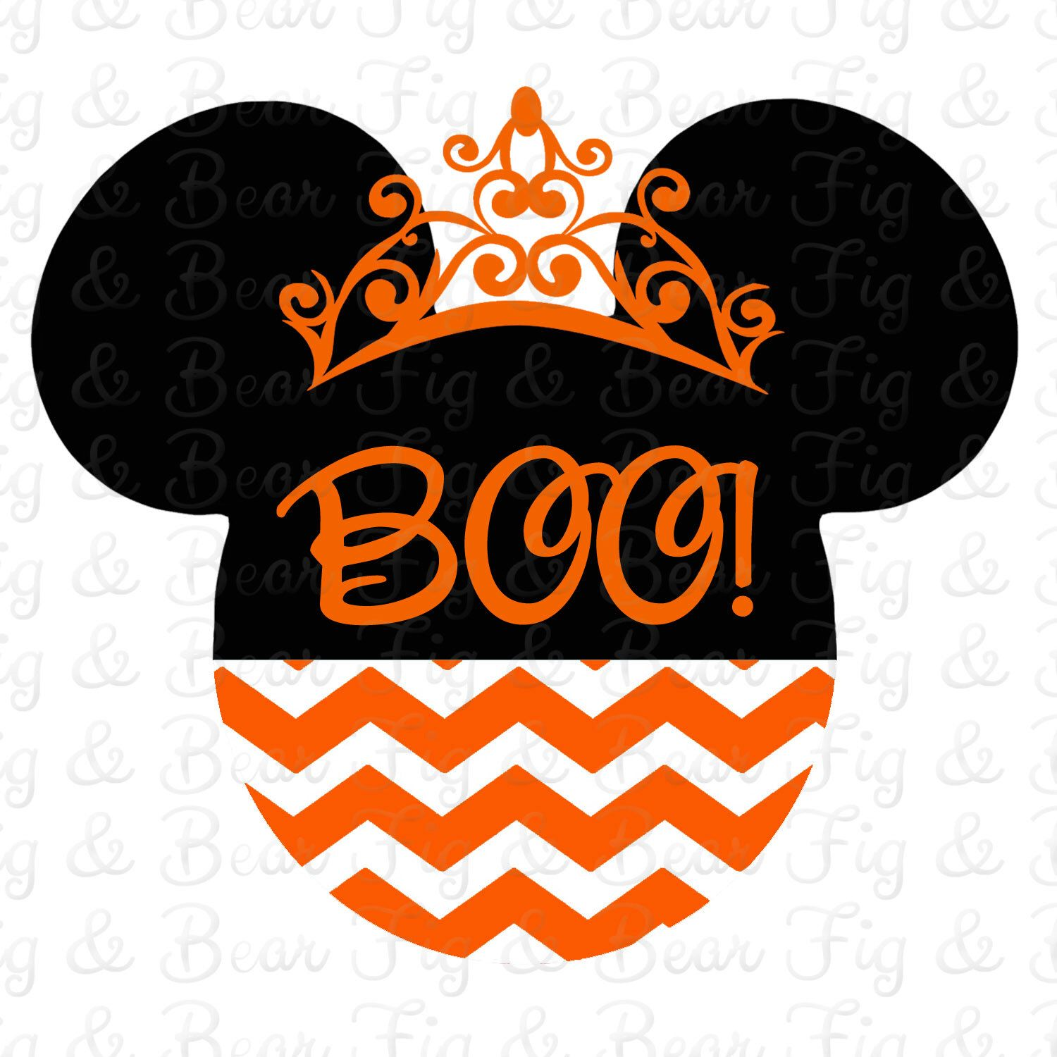 Halloween Disney Minnie Mouse Iron On Transfer for T