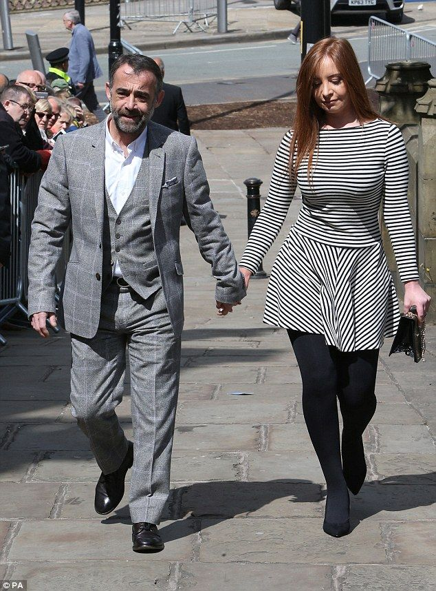 Packed-out service: Coronation Street actor Michael Le Vell and partner Louise Gibbons mak...