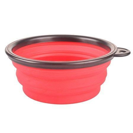 New Collapsible foldable silicone feeding bowl