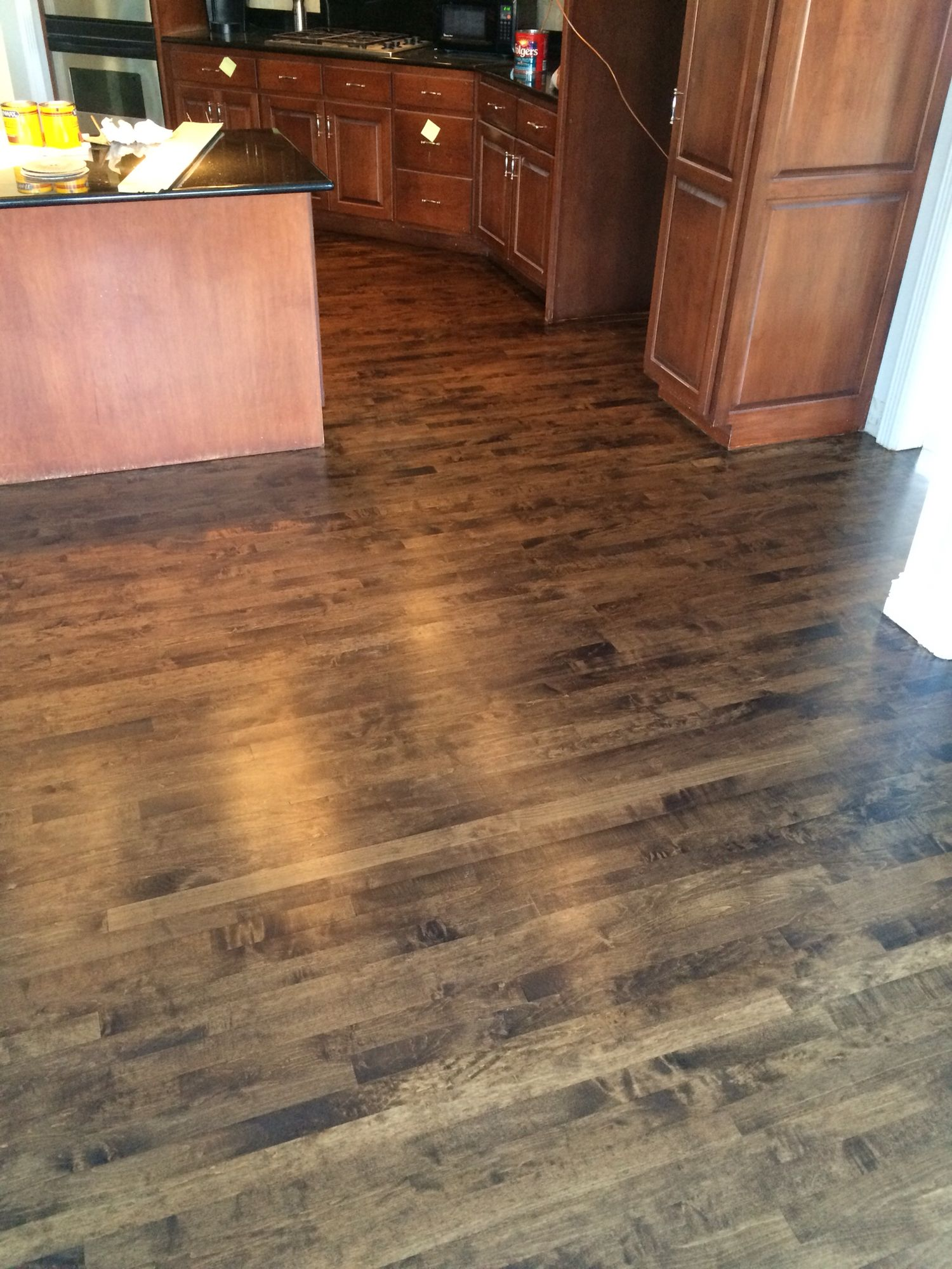 Maple Stained Dark Walnut Maple Stain Maple Hardwood Floors Maple Hardwood