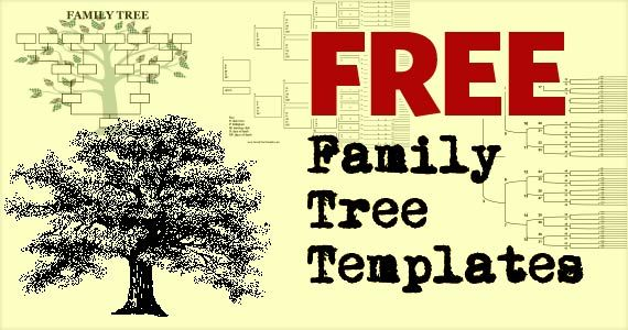 free family tree template printables family reunions pinterest