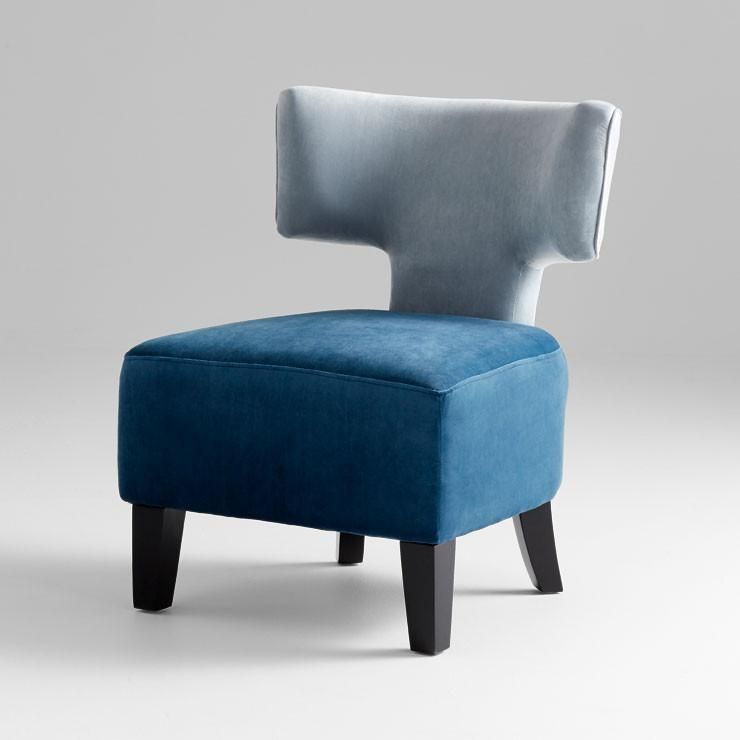 Best Capital T Blue Gray Curved Accent Chair Accent Chairs 400 x 300