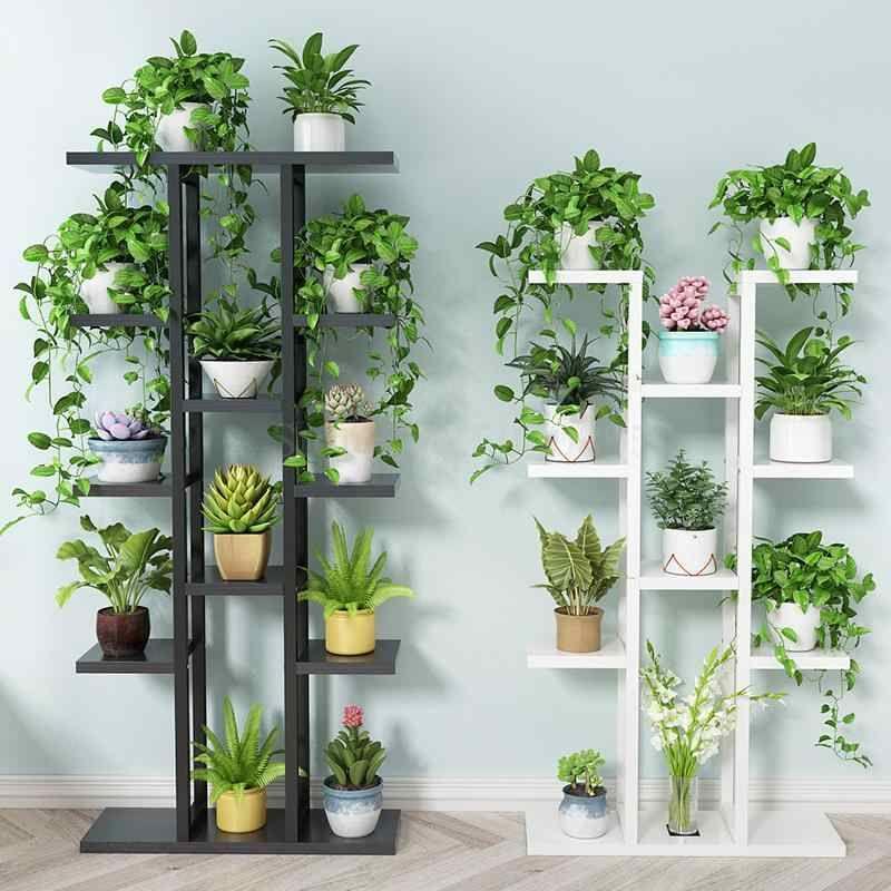 Flower Shelf Home Multi Storey Indoor Space Wrought Iron Flower