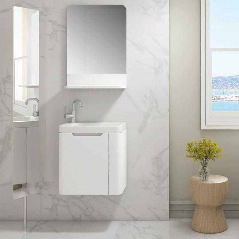 Harbour Compact 450mm Gloss White Vanity Unit Basin Cloakroom Basin Vanity Units Vanity Units White Vanity Unit