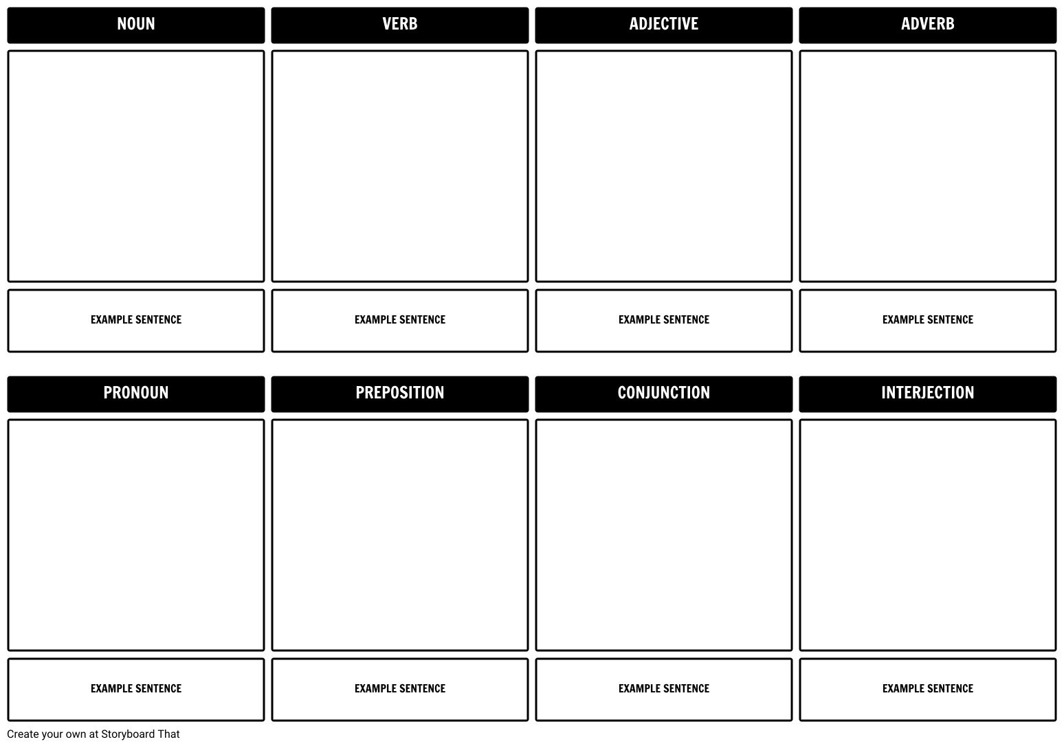 Plot diagram or storyboard template for planning your movie of ...