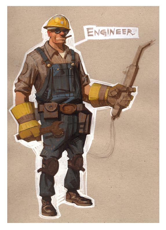 The Engineer Team Fortress 2 Moby Francke Character Design