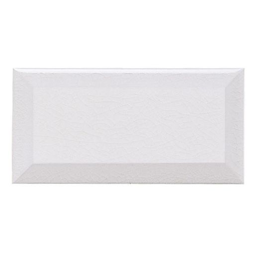 Ceramic White 3 X 6 Adex Hampton, Crackle Beveled Wall