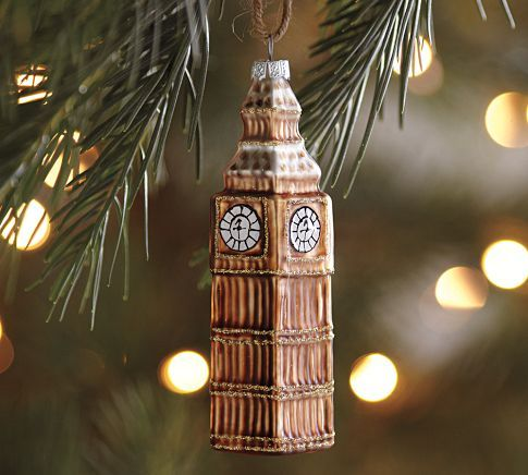 I love all the new travel-themed ornaments from Pottery Barn!