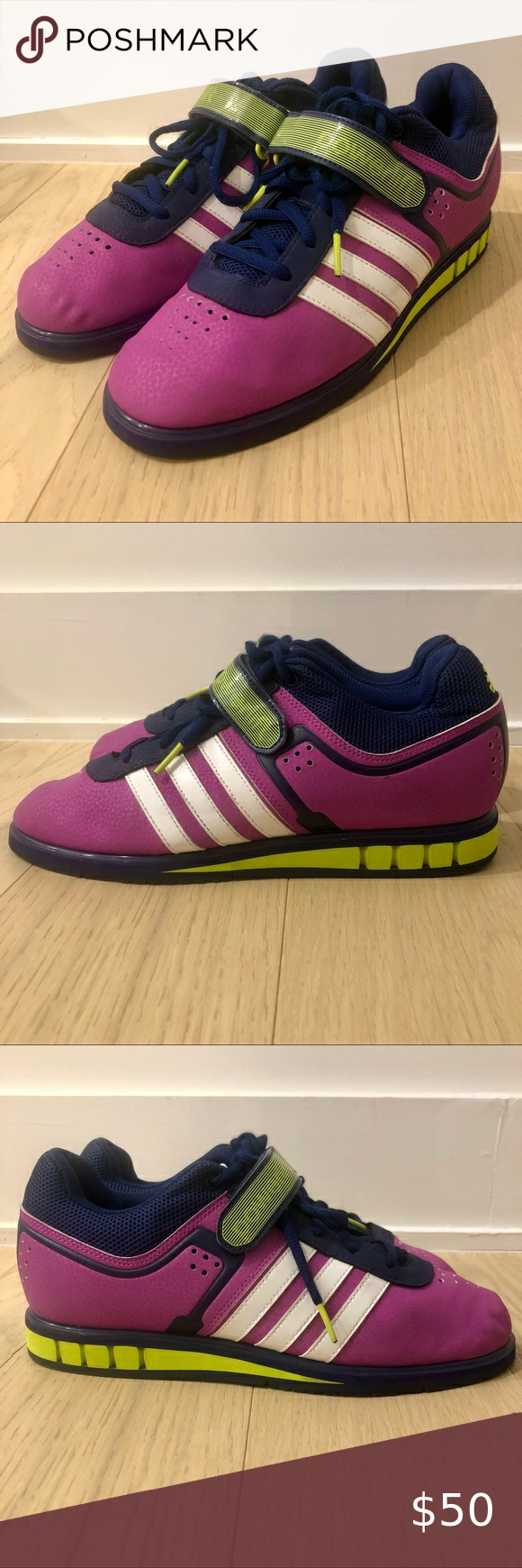 Photo of Adidas PowerLift 2.0 | Flash Pink Adidas PowerLift 2.0 weightlifting sneaker in …