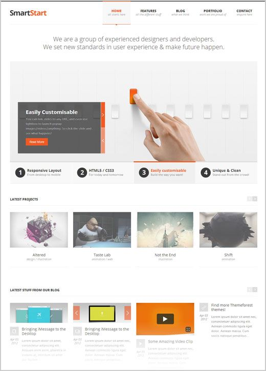 Smart Start Free Premium Responsive WordPress Theme 15 High Quality ...
