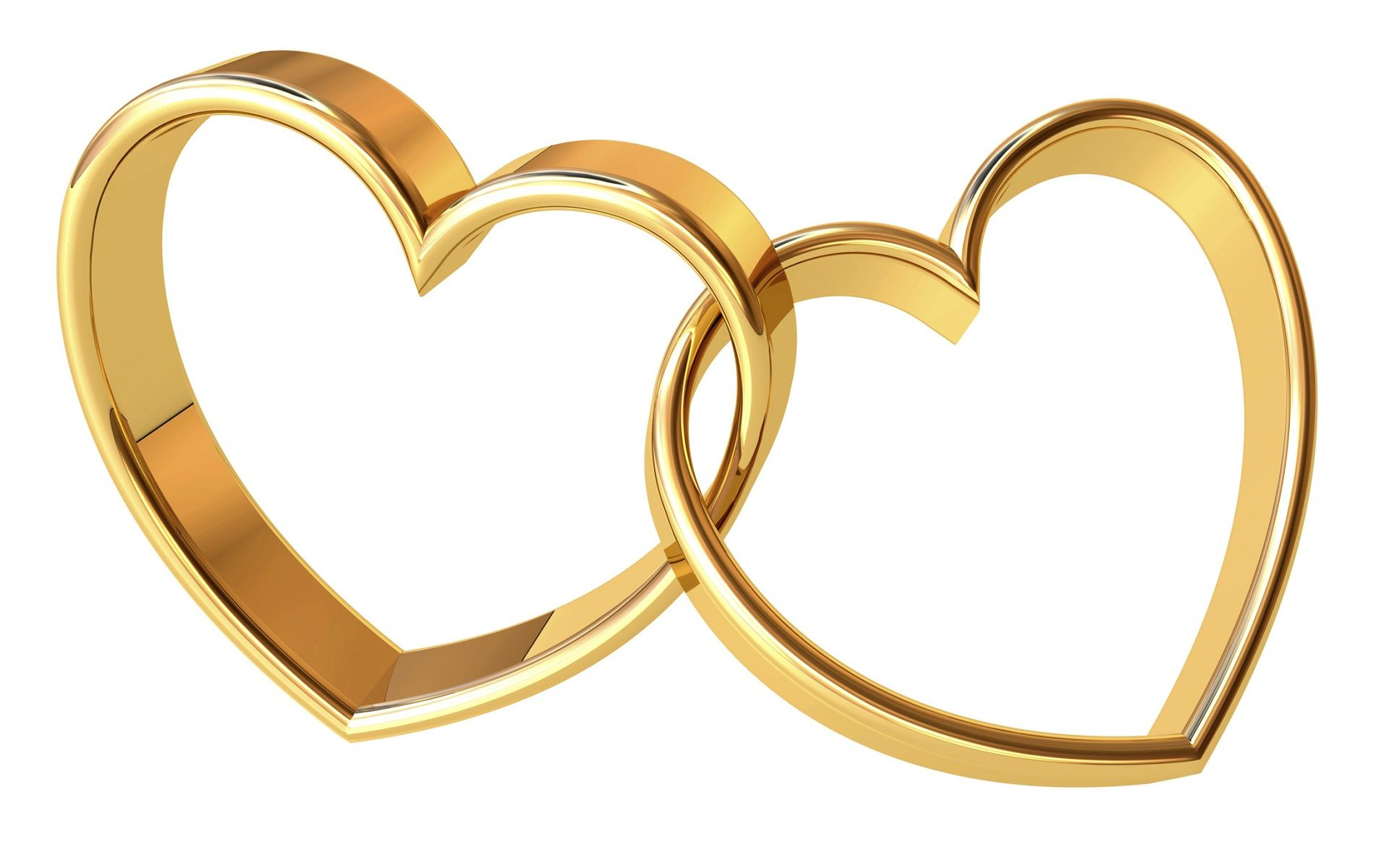 4fc51f4bbcb95 Gold rings heart shape happy anniversary | HD Wallpapers Rocks ...