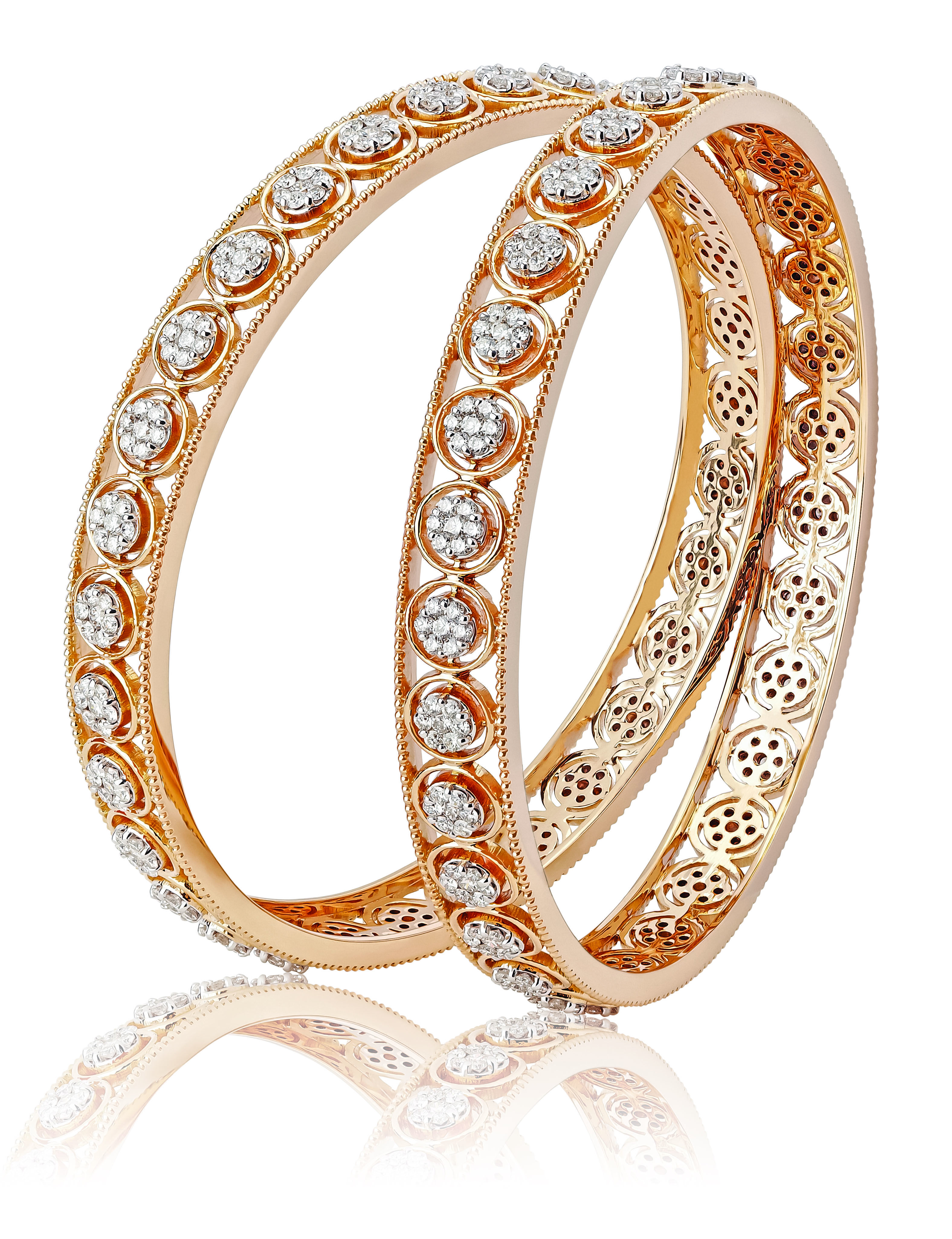 bangles yellow two jewellery gold expertissim