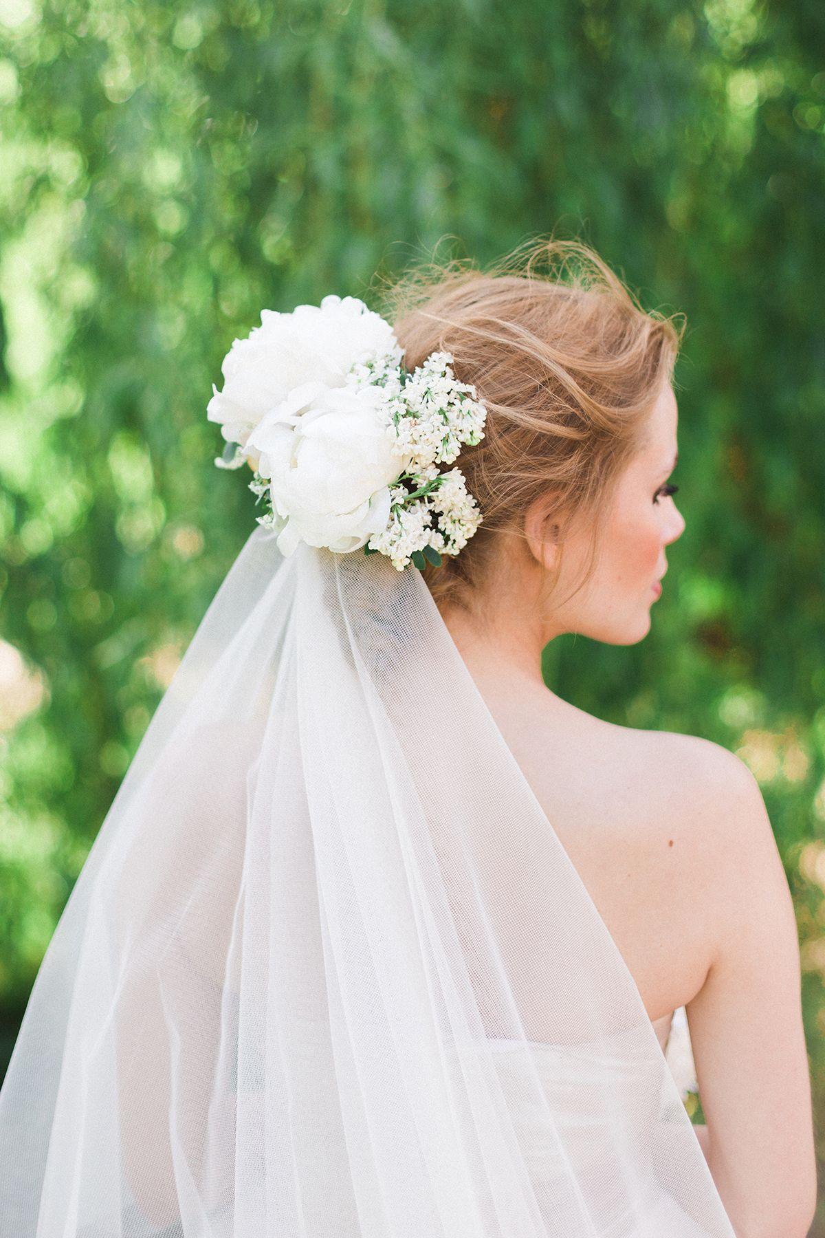 wedding hair with flowers & veil | bridal hair inspiration