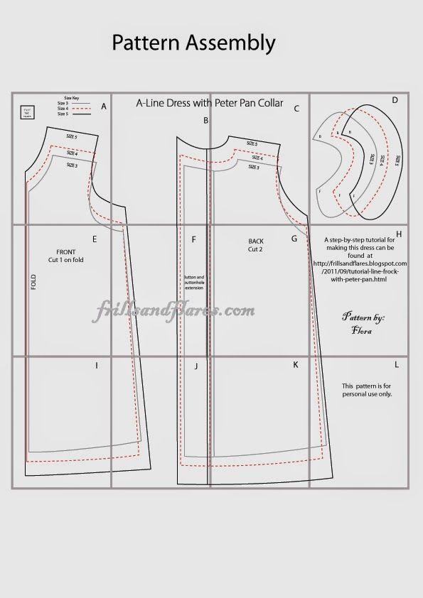 Free Pattern : A-Line Dress with Peter Pan Collar | Ana Belén ...