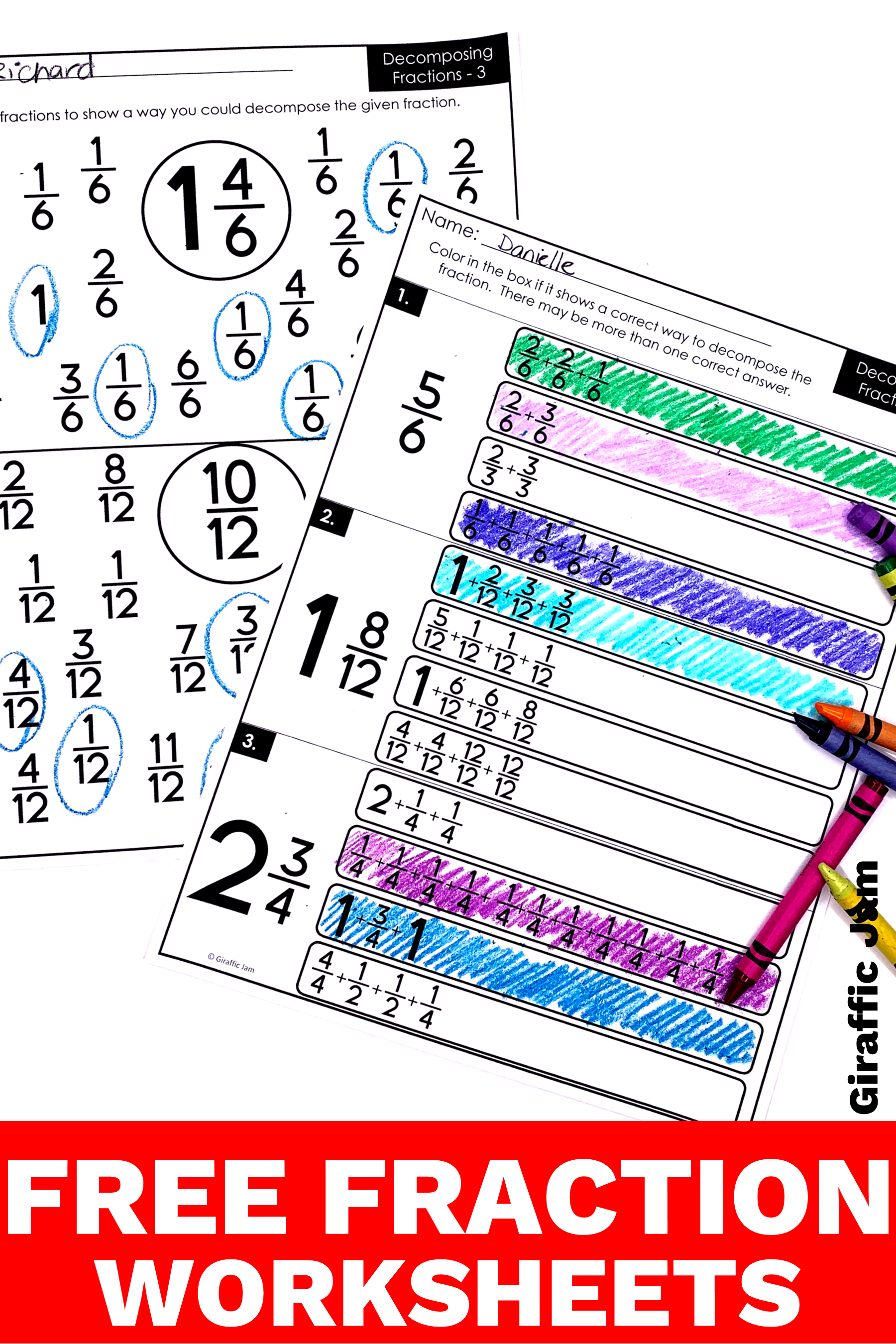 4th Grade Fractions Decomposing Fractions Fraction Worksheets 4th Grade Math Worksheets Fractions Worksheets 4th Grade Math Worksheets Fraction Homework