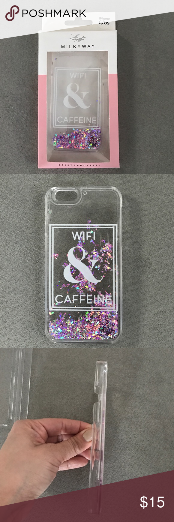 iPhone Case This is a moving glitter case with cool design. iPhone 6/6s milkyway Accessories Phone Cases