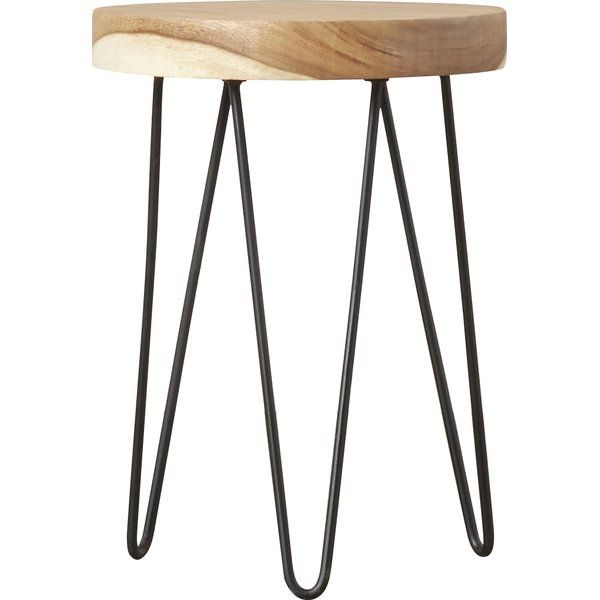 Mustering Up A Modern Look This Alluring End Table Is A Must Have Handcrafted For Lasting Style Its Circular Top Is Crafted End Tables Side Table Furniture